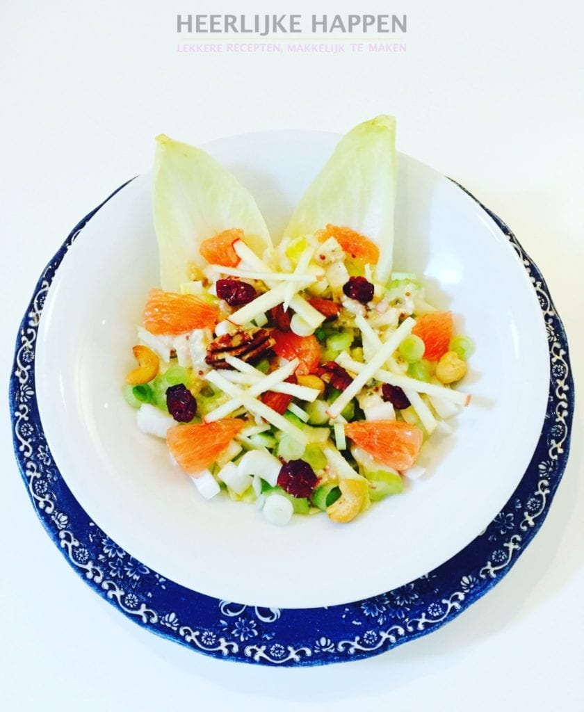 Frisse witlof salade met grapefruit