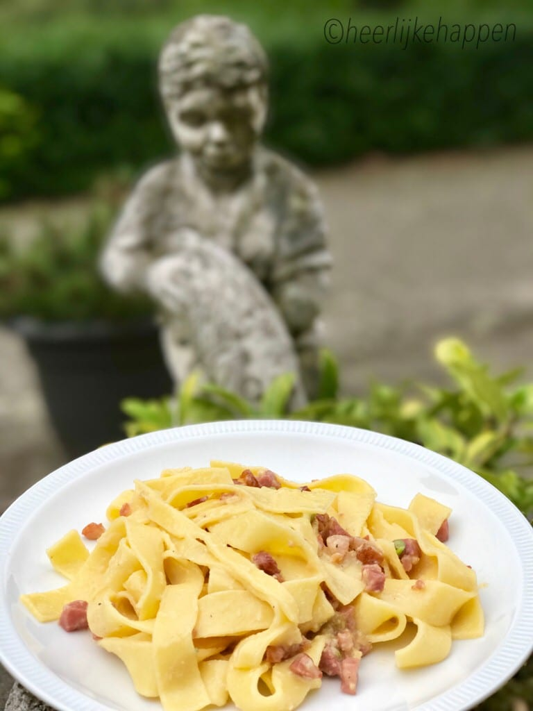 Papardelle carbonara