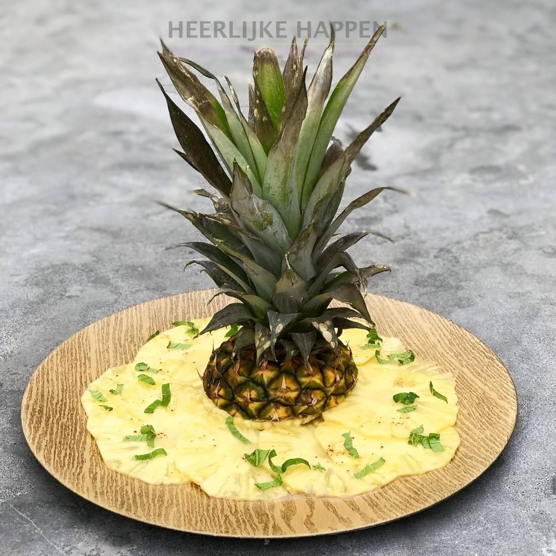 Caribische ananas carpaccio