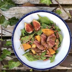 Herfst salade met pompoen
