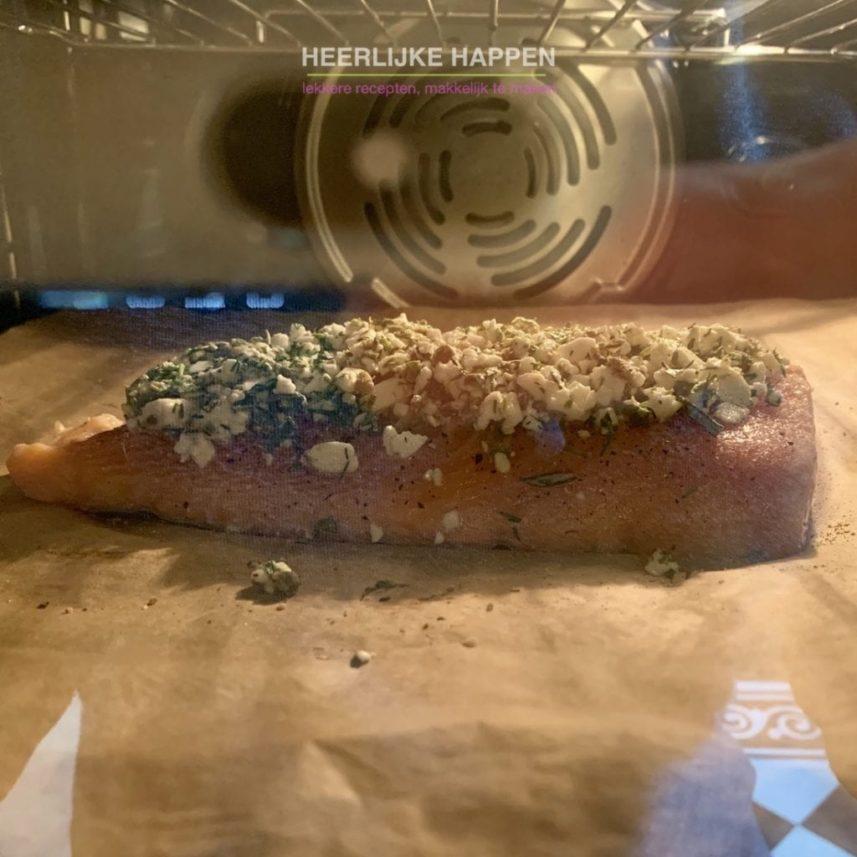 Zalm uit de oven met een feta korstje