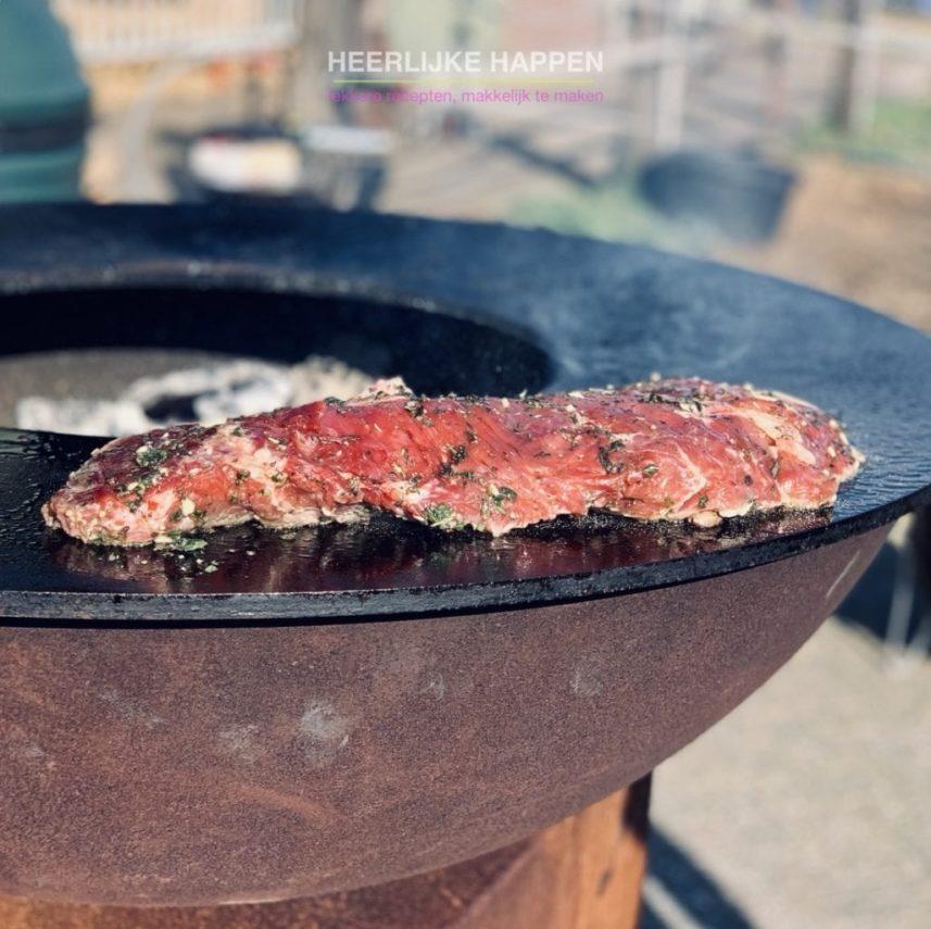 Biefstuk van de BBQ