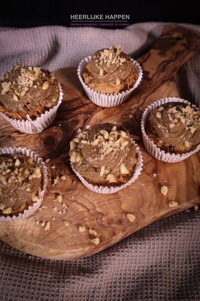 Carrotcake cupcakes van Sabine