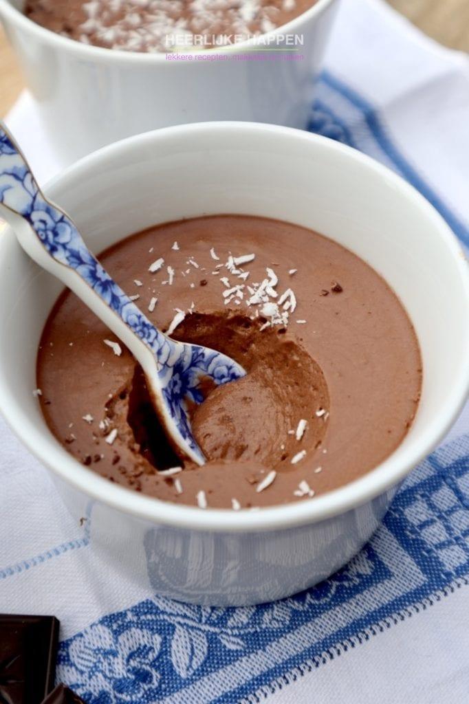 Romige chocolademousse van Aquafaba