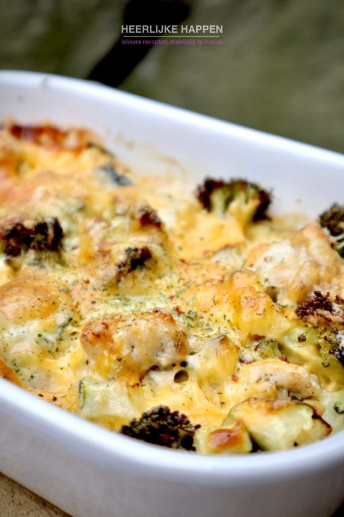 Low carb groenten ovenschotel met kaas