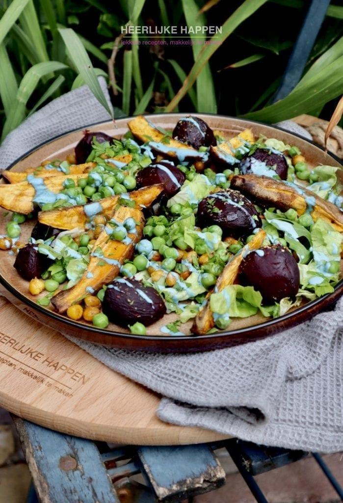 Gegrilde zoete aardappelsalade